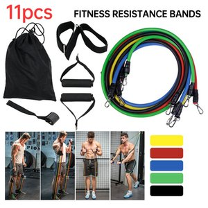 11pcs set Pull Rope Fitness Exercises Resistance Bands Latex Tubes Yoga Training Workout Elastic Resistance Band Party Favor CCA12315 50sets