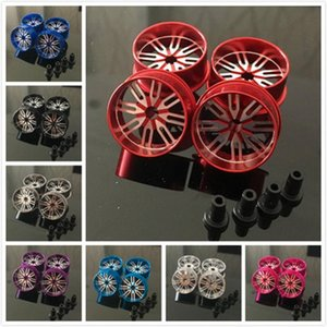 4pcs Self-made Tamiya FOUR-wheel drive accessories high quality large diameter aluminum alloy hollow out light weight wheel hub 4 installs