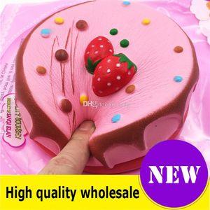 Squishy Strawberry cake quality Jumbo Slow Rising Soft Oversize Phone Squeeze toys Pendant Anti Stress Kid Cartoon Decompression Toy