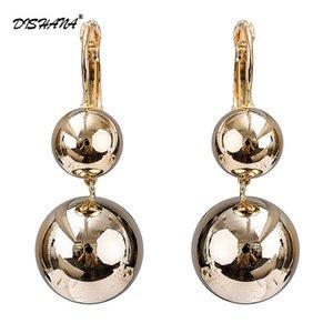 Fashion Trendy Long Drop Earrings For Women Gold color Dangle Piercing Shining Ball Shape Earring Wedding Jewelry E0732