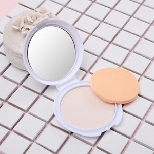 Fashion 3D puff with mirror foundation oil control Natural Concealer Powder Cake powder cake nude makeup concealer makeup permanent