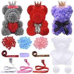 Wedding Party Decoration Modelling Styrofoam Foam Bear Heart Ball Flower Head DIY Birthday Valentine's Day Gift Flower Bear Craf