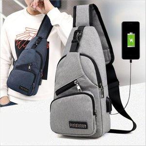Мужская сумка плечи USB зарядного Crossbody Сумки Мужчина защита от угона Chest сумки школа лето Короткой поездка Посланники сумка 2019 нового прибытия