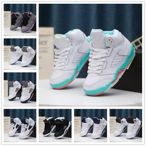 2020 Kids 5 5s Basketball Shoes gold black kid gift 5s Boys Sneakers Shoes Children Sports low running shoes