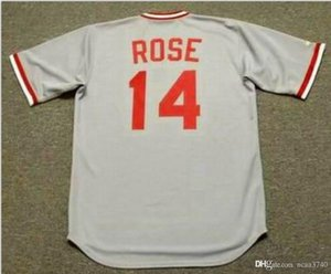 Custom Men Youth women Vintage PETES ROSE 1975 Cooperstown Vintage jersey SIZE S-4XL or custom any name or number Baseball Jersey