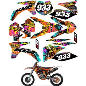 Gráficos Para KTM SX SXF SXF 125 150 250 350 450 500 530 2011 2012 Adesivos Decal Kit Número feito sob encomenda