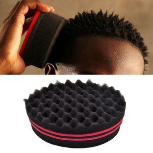 Doble Wave Magic Hair Torsión Esponja Torcer Dreads Cerraduras Dreadlocks Curl cepillo torcedura de la esponja de herramientas del peluquero de onda de la bobina del transporte marítimo de DDA168
