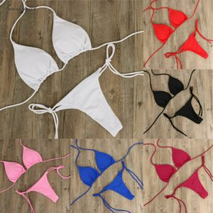 Sexy Womens Swimwear Bikini Set Micro Bikinis Bra Top G String Thong Swimsuit Nightwear Drop Shipping Good Quality