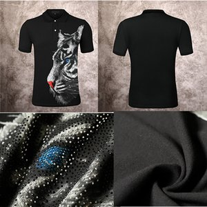 de manga curta t-shirt calssic tigre luxo Polo camisas Homens designer de moda roupas de marca HOT crânios alta Negócios Quality tee Casual M-3XL