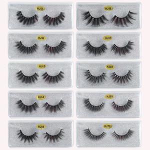 3D Mink Eyelashes Eye makeup Mink False lashes Soft Natural Thick Fake Eyelashes 3D Eye Lashes Extension Beauty Tools 10 styles DHL Free