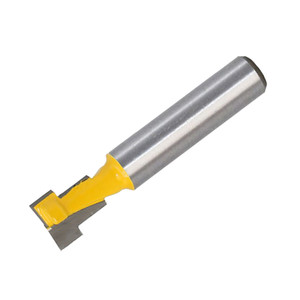 """3 8\"""" Carbide T Type Slotting T-Slot Router Cutter Bit For Woodworking Yellow"""