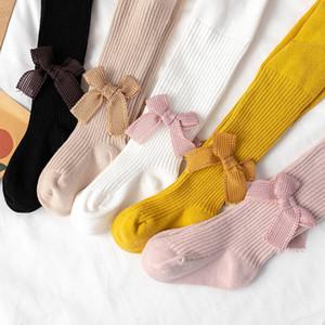 Ragazza del bambino Calze Solid Bow Ragazze Calze calde calzamaglia Kid ghette dei bambini ansima i pantaloni per bambini Leggings Tights 8 colori M2300