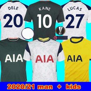 20 21 KANE SON BERGWIJN NDOMBELE لكرة القدم الفانيلة 2019 2020 2021 LUCAS SPURS DELE TOTTENHAM جيرسي لكرة القدم عدة رجال قميص وKIDS SETS KIT