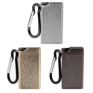 Mini Portable Ashtray Cigarette Keychain Outdoor Use Pocket Smoking Smoking Ash Tray with Lid Key Chain for Travelling T200307