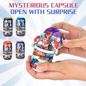 2020 niños juguetes cápsula héroe misterioso Transformación juguetes modelo de carreras de cuatro colores fríos regalos populares