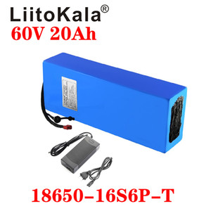 LiitoKala 60V ebike battery 60V 20Ah 18650 16S6P lithium ion battery electric bicycle 1500W electric scooter battery