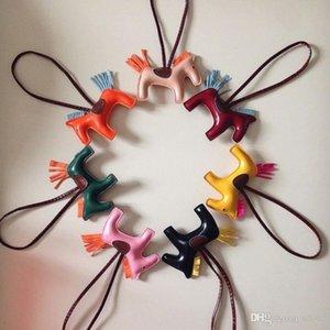 Kawaii Tassel Rodeo Horse Bag Charm Cute Pendant For Women Portable Mini Handbag Key Chain PU Bags Many Colors 3wm ZZ