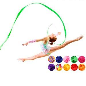 4M colorido Ballet Ribbon Academia de Dança Rítmica fita Rotating Bar Gym Formação Profissional Ginástica