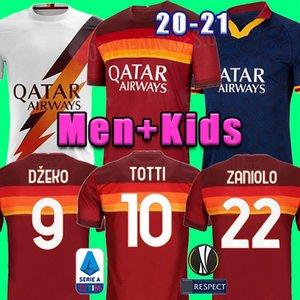 Tailandia 20 21 DZEKO PEROTTI PASTORE ZANIOLO camiseta de fútbol de Roma 2020 2021 TOTTI camisetas de la camisa de fútbol kit DE ROSSI como maillot de pie roma