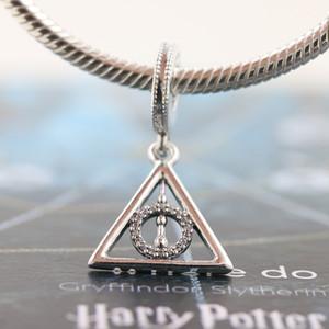 2020 uscita S925 Sterling Silver Harry Potter Doni della Morte perline pendente di fascino della collana dei braccialetti Adatto Pandora europea