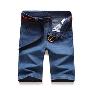 2020 Summer Brand Hot Stretch Thin high quality cotton Denim Jeans male Short Men pants cowboy Soft blue casual Shorts Jeans Men