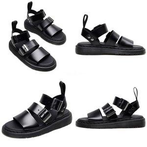 Women Summer Ankle Strap Line-Style Buckle Open Toe Flat With Rivet Sandals Shoe Large Size Flat Bottom Women Sandals C01#200