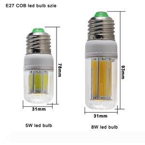 COB мозоли СИД лампы E27 E14 E12 B22 G9 GU10 привело лампы 110V 220V 5W 8W Энергосберегающие лампы для внутреннего освещения