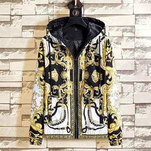 20SS.AutumnWinter yeni lüks 5D yansıma uzun Medusa erkek rüzgarlık ceket erkek spor ceket M-3XL manşonlu