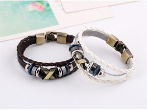 DHL epacket ship Cross-border punk jewelry factory direct leather bracelet retro leather bracelet DJFB349 Charm Bracelets jewelry