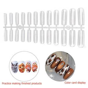 504pcs Bricolage non-trace Nail Tip Plein bâton court Droplet Faux manucure Piece Faux ongles Box Art manucure DIY *
