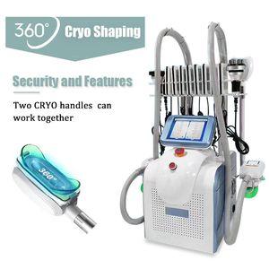 Newest 7in1 cryolipolysis fat freeze machine slimming Cryotherapy machines 360 cryolipolysis rf cavitation machine with 2 handles