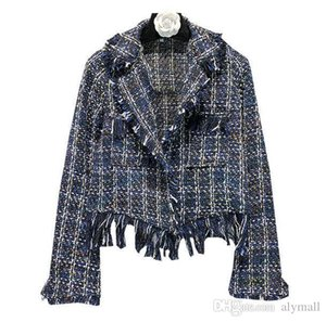 Womens Weave Knitted Blzers Lapel Collar Coat Tassels Slim Fit Short Jacket Chic