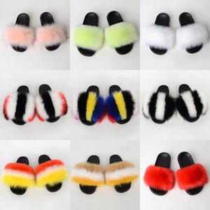 For And Wo Sandals Slippers Flat Slippers High Quality Shoes Real Leather Sandals Rubber Sole Eu:35-45 With PT22#951