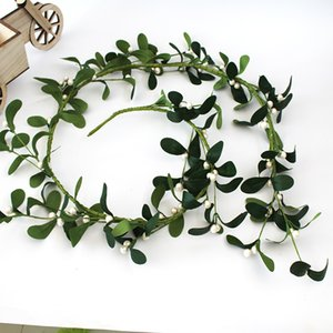 Artificial Wedding Arch Flowers White Rose Garland 150cm Leaf Garland Fake Vine Realistic Flower Garland for Home Decoration