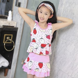 2019 Korean princess Princess dress skirt swimsuit girls split cute children sunscreen boxer swimsuit