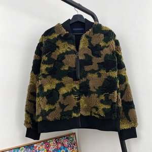 20SS camouflage Bomber Vestes Baseball Homme Femme Couple High Street Zipper Vestes mode couleur assortis Outwear HFYMJK339