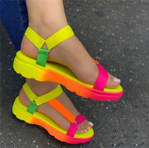 Sarairis 2020 INS Hot Sale multi colors Big size 43 casual Shoes Woman Flat Dropship Comfortable Sandals Female