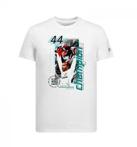 Explosion F1 Formula One racing short-sleeved T-shirt Hamilton 2019W10 World Championship sports round neck Tee
