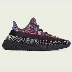Kanye West alta calidad de los zapatos Antlia Cinder Citrin blanca Lundmark Negro reflectantes corriendo a la venta con zapatillas de deporte de la caja almacenar precios al por mayor