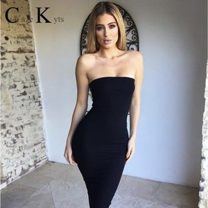 Caze Kyts Summer 2020 sexy women's dress sleeveless chest wrap long dress tight party essential