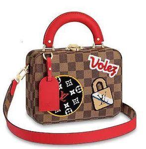 feixiang5255 EVOU N40048 BOX bag handbags red brown Real Chain Bag HANDBAGS SHOULDER MESSENGER BAGS TOTES
