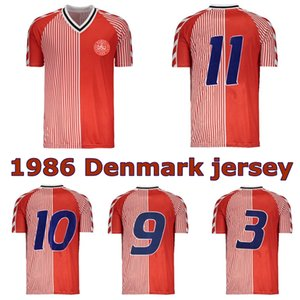 1986 Dänemark weltcup retro Fußball JERSE 86 91 Dänemark Nationalmannschaft Michael Laudrup Elkjær Berggreen Olsen Vintage klassische Fußballhemd