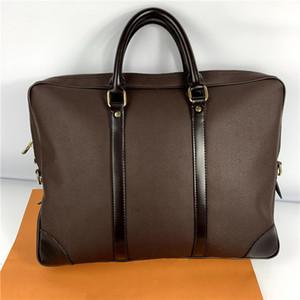 Neuankömmling hochwertigen Business-Taschen Mens Designer Aktenkoffer echtes Leder Business-Notebook-Taschen Herren Dokumententasche