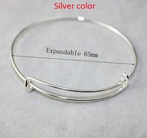 New fashion expandable wire bangle bracelets DIY jewelry size cable wire bangle adjustable charm bracelet accessories wholesale