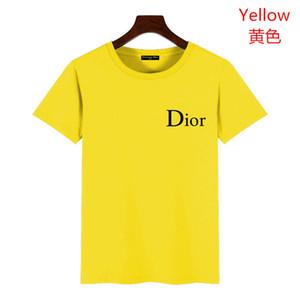 dior T-shirt Paris l'Europe Broderie Imprimer Lettre Mode Homme T-shirts Casual Hommes Femmes Vêtements Coton T Hauts FG9571