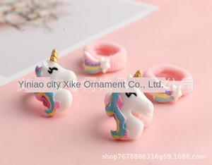 meteoro Unicorn resina de borracha nylon acessórios Toalha banda anel de toalha de crianças cabelo acessórios 2020 anel de cabelo unicorn