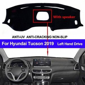 Tableau de bord de voiture couverture pour Tucson 2019 avec haut-parleur antipoussière Dashmat Pad LHD Tableau de bord Tapis Couverture Dash Mat Sun Shade A9XE #