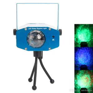 9W 3 RGB LED Laser lighting Auto Voice Control Flash Ocean Wave LED Stage Bar Lamp AC 85-265V Blue