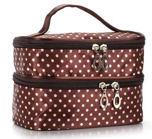 Designer Handbag 2020 Fashion Explosion Model Wavelet Double Layer Small Dot Cosmetic Bag
