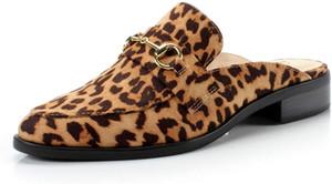 Moda slittamento comodo di FOOTSELF BAMBO Dunion donne sulla catena Heels Decorato Mocassini Bassi mandorla Toe casuali quotidiani Mule